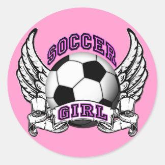 Soccer Girl Tattoo Stickers