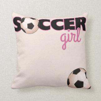 Soccer Girl Throw Pillows