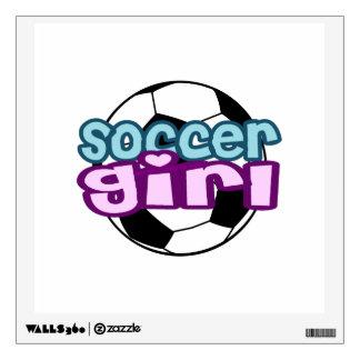 Soccer Girl Wall Sticker