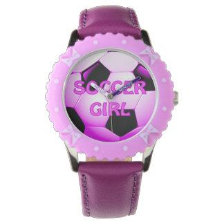 Soccer Girl Wrist Watch