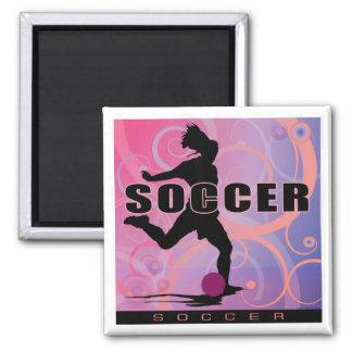 soccer-girls2 imán cuadrado