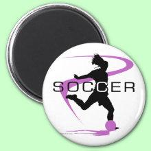 Soccer - Girls - Pink Magnet