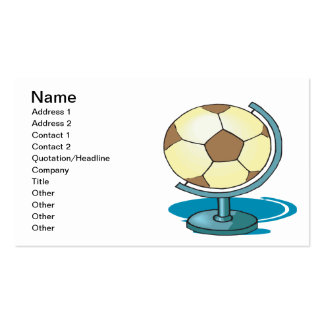 Soccer Globe Double-Sided Standard Business Cards (Pack Of 100)