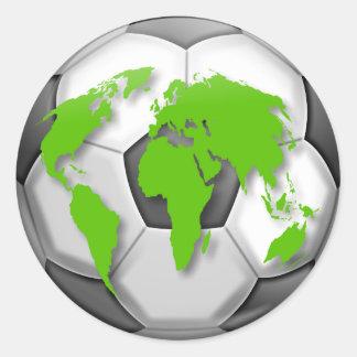 Soccer Globe Classic Round Sticker