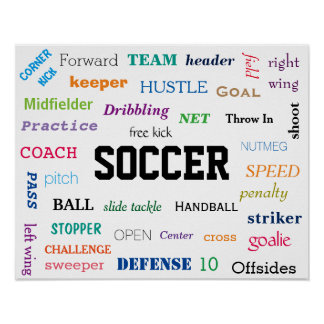SOCCER Glossary Poster! Motivational! Poster