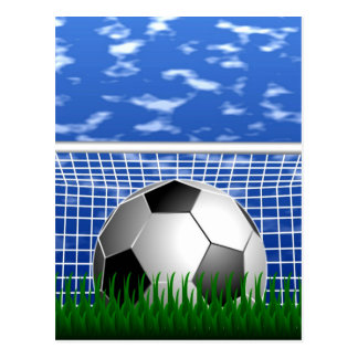 Soccer Goal and success Postcard