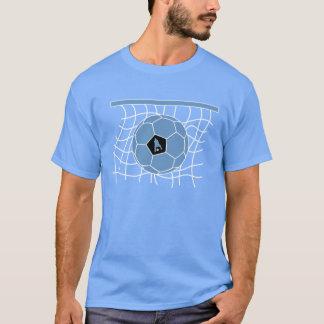 Soccer Goal by J-MO-NET-LT_BLU/WH T-Shirt