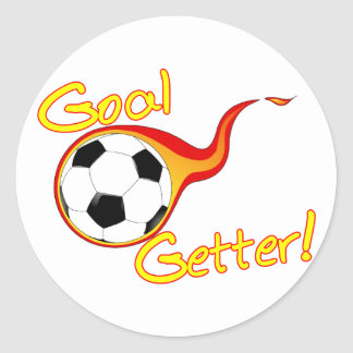 Soccer Goal Getter Classic Round Sticker