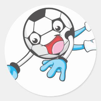 Soccer Goal Keeper Classic Round Sticker