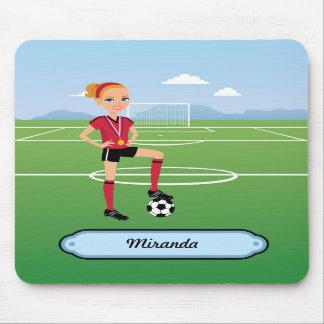 Soccer Goal Mousepad for Girls