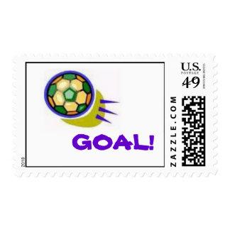 Soccer Goal! Postage Stamps
