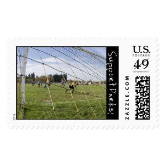 Soccer Goal Postage Stamp