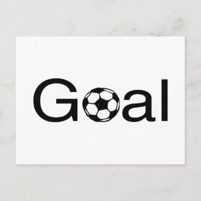 soccer goal. Soccer Goal Postcard by