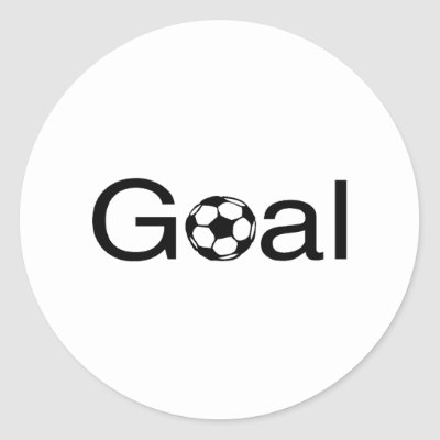 soccer goal. Soccer Goal Round Stickers by