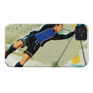 Soccer goalie blocking ball iPhone 4 covers
