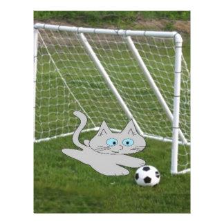 Soccer Goalie Cat Letterhead Design