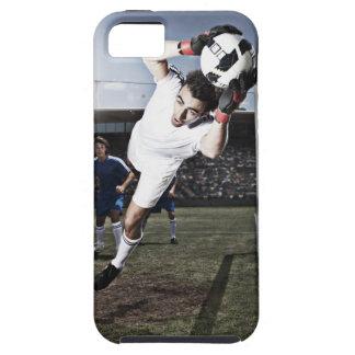 Soccer goalie catching soccer ball iPhone 5 case