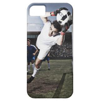 Soccer goalie catching soccer ball iPhone 5 cases