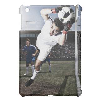 Soccer goalie catching soccer ball case for the iPad mini