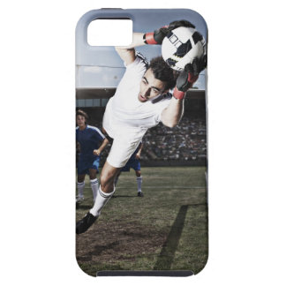Soccer goalie catching soccer ball iPhone SE/5/5s case