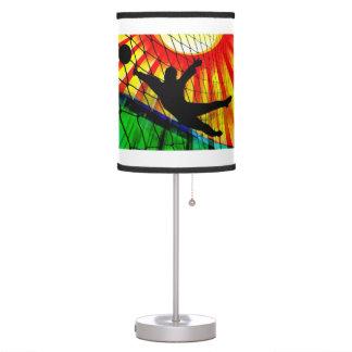 Soccer Goalie Grass & Net ANY COLOR BACKGRND Desk Lamp