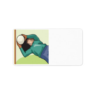 Soccer Goalie Personalized Address Label