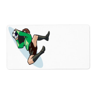 Soccer Goalie Personalized Shipping Labels