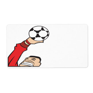 Soccer Goalie Personalized Shipping Label
