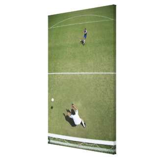 Soccer goalie missing soccer ball 2 gallery wrapped canvas