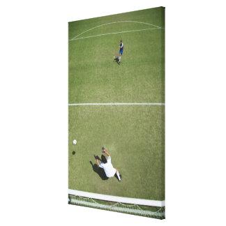Soccer goalie missing soccer ball 2 canvas print