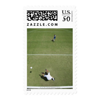 Soccer goalie missing soccer ball 2 postage