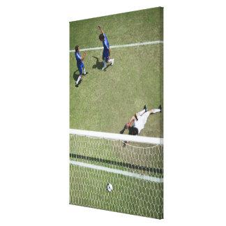 Soccer goalie missing soccer ball canvas print
