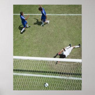 Soccer goalie missing soccer ball poster