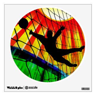 Soccer Goalie Net & Grass Room Graphics