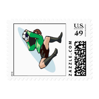 Soccer Goalie Postage Stamp