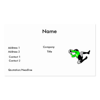 soccer goalie save graphic business card template
