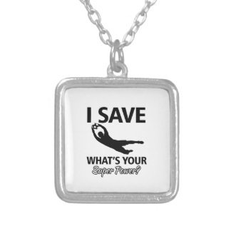 Soccer Goalie Silver Plated Necklace