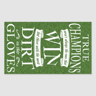 Soccer Goalie True Champions Rectangular Sticker