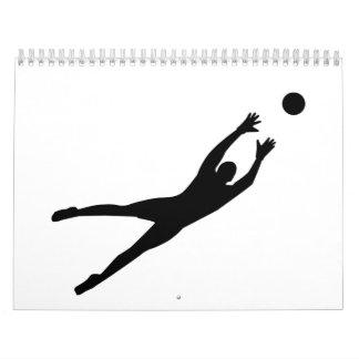 Soccer goalkeeper wall calendar