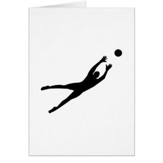 Soccer goalkeeper cards
