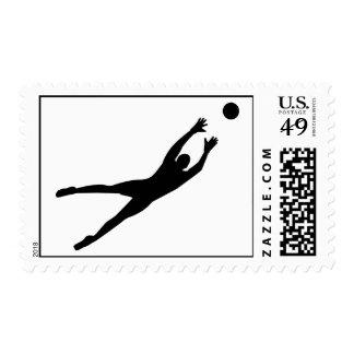 Soccer goalkeeper postage stamps