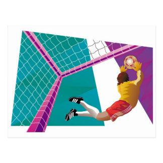 Soccer Goalkeeper Post Card