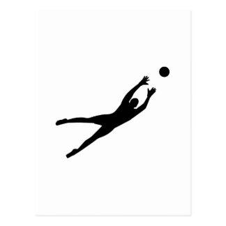 Soccer goalkeeper post cards