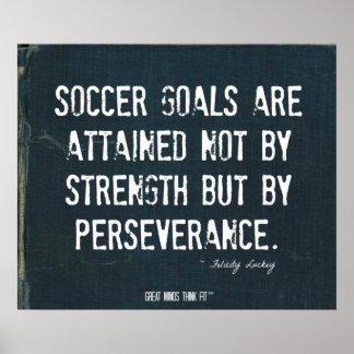 Soccer Goals Poster in Ripped Denim 008