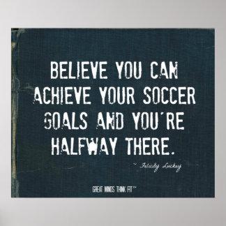 Soccer Goals Poster in Ripped Denim 010
