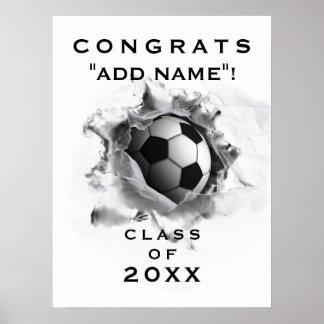 Soccer Graduation Poster