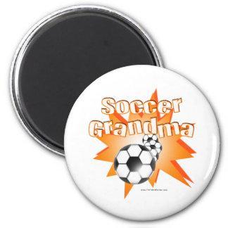 Soccer Grandma 2 Inch Round Magnet