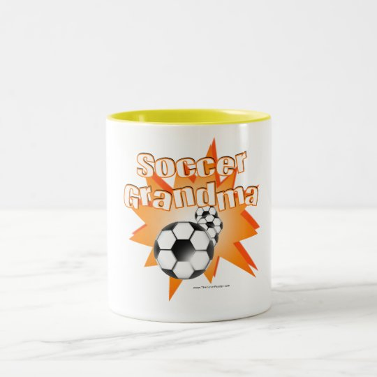 Soccer Grandma Two-Tone Coffee Mug