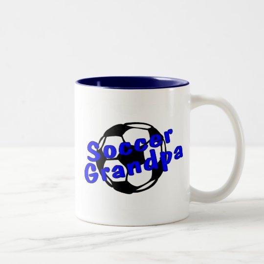 Soccer Grandpa (Blue) Two-Tone Coffee Mug
