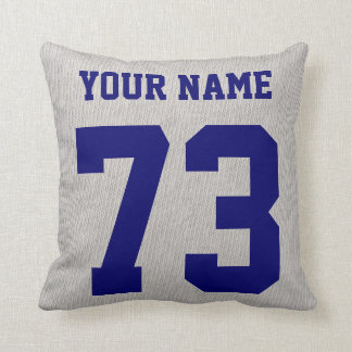 Soccer Grandpa Pillow, Add Your Name and Number Throw Pillow